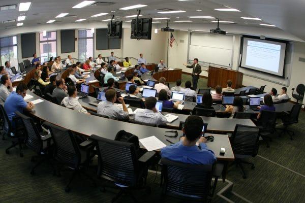 Joel Houston teaches a class