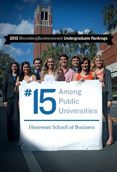 2013 BloombergBusinessweek Undergraduate Rankings #15 among publics