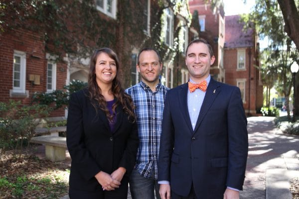 Dr. Michelle Darnell, Dr. Paul Madsen, and Dave Sullivan