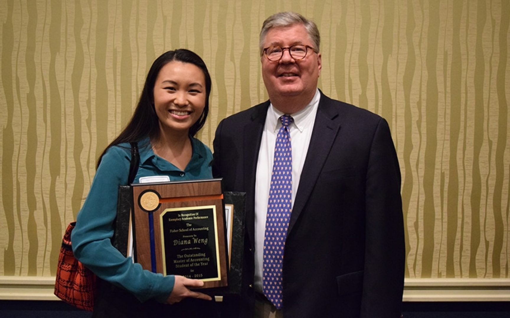 Diana Weng and Dr. Gary McGill