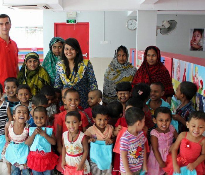 Robert Felder with children in need in Bangladesh