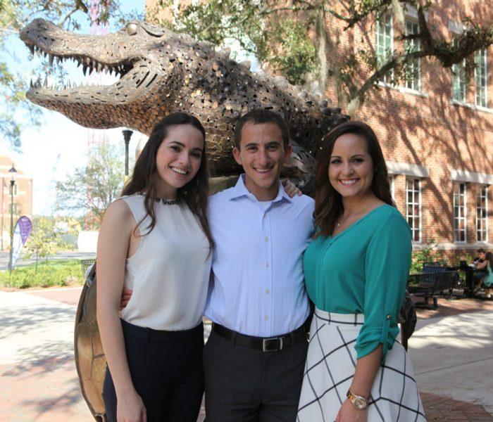Samantha Biondi, Forrest Hoffman and Allison Carter