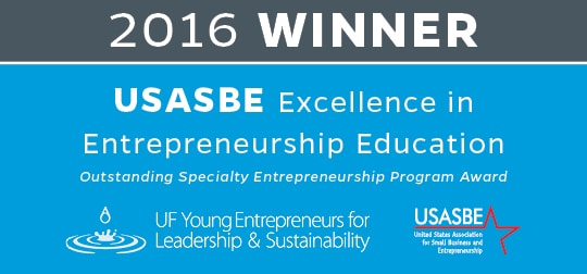2016 Winner USASBE Excellence in Entrepreneurship Education