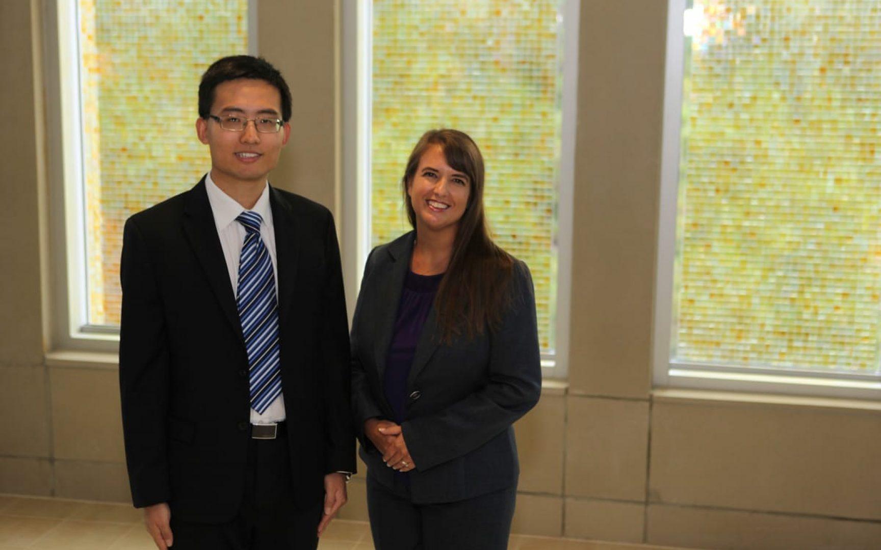 Liangfei Qiu and Michelle Darnell