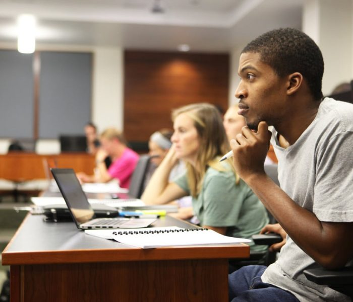 Students in Hough Graduate School of Business classroom