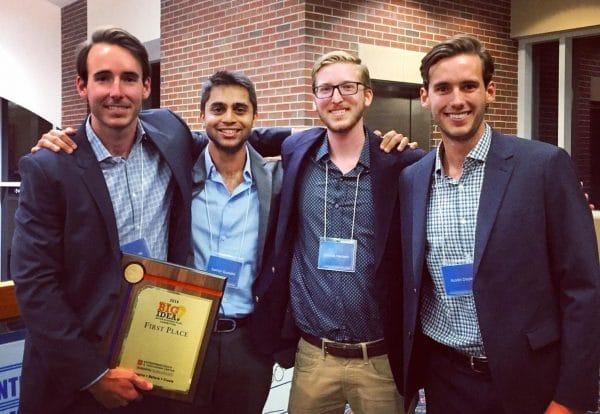 2016 Big Idea Competition: Shawn Doyle, Samyr Qureshi, Dennis Hansen and Austin Doyle
