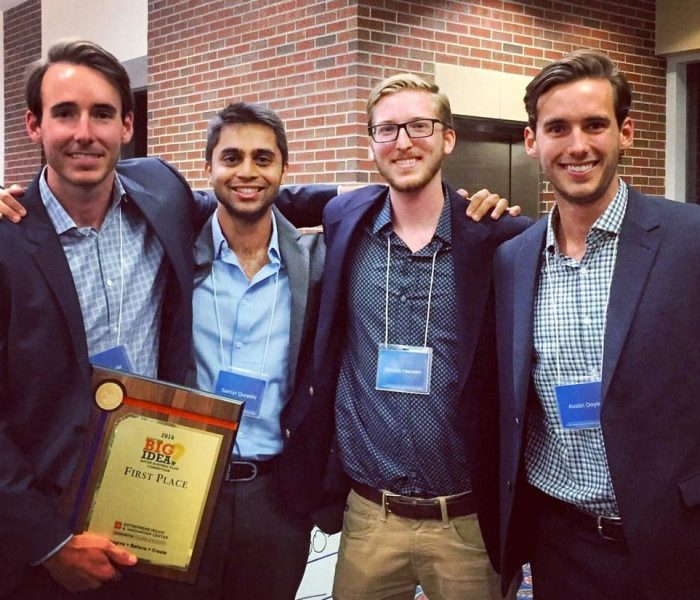 2016 Big Idea Competition: Shawn Doyle, Samyr Qureshi, Dennis Hansen and Austin Doyle
