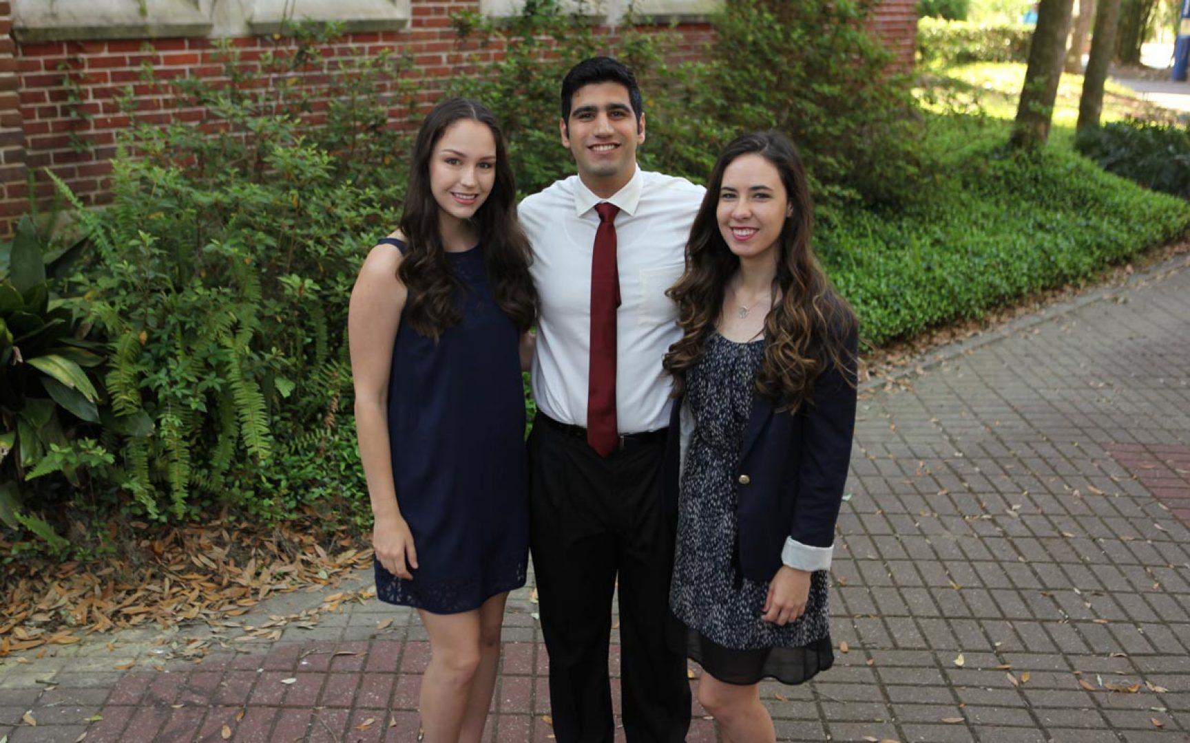 Emily Lunn, Abdul-Kader Okab, Kaitlyn Czencz, Presidential Service Awards