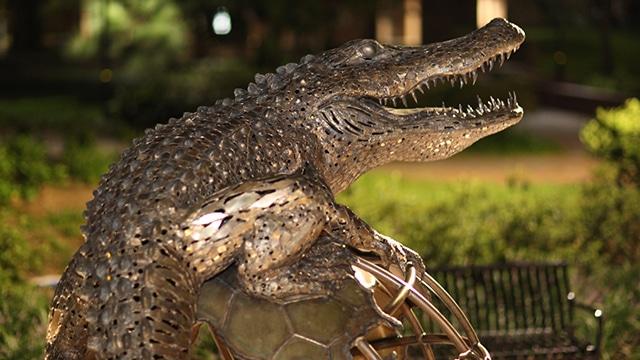Gator Ubiquity sculpture