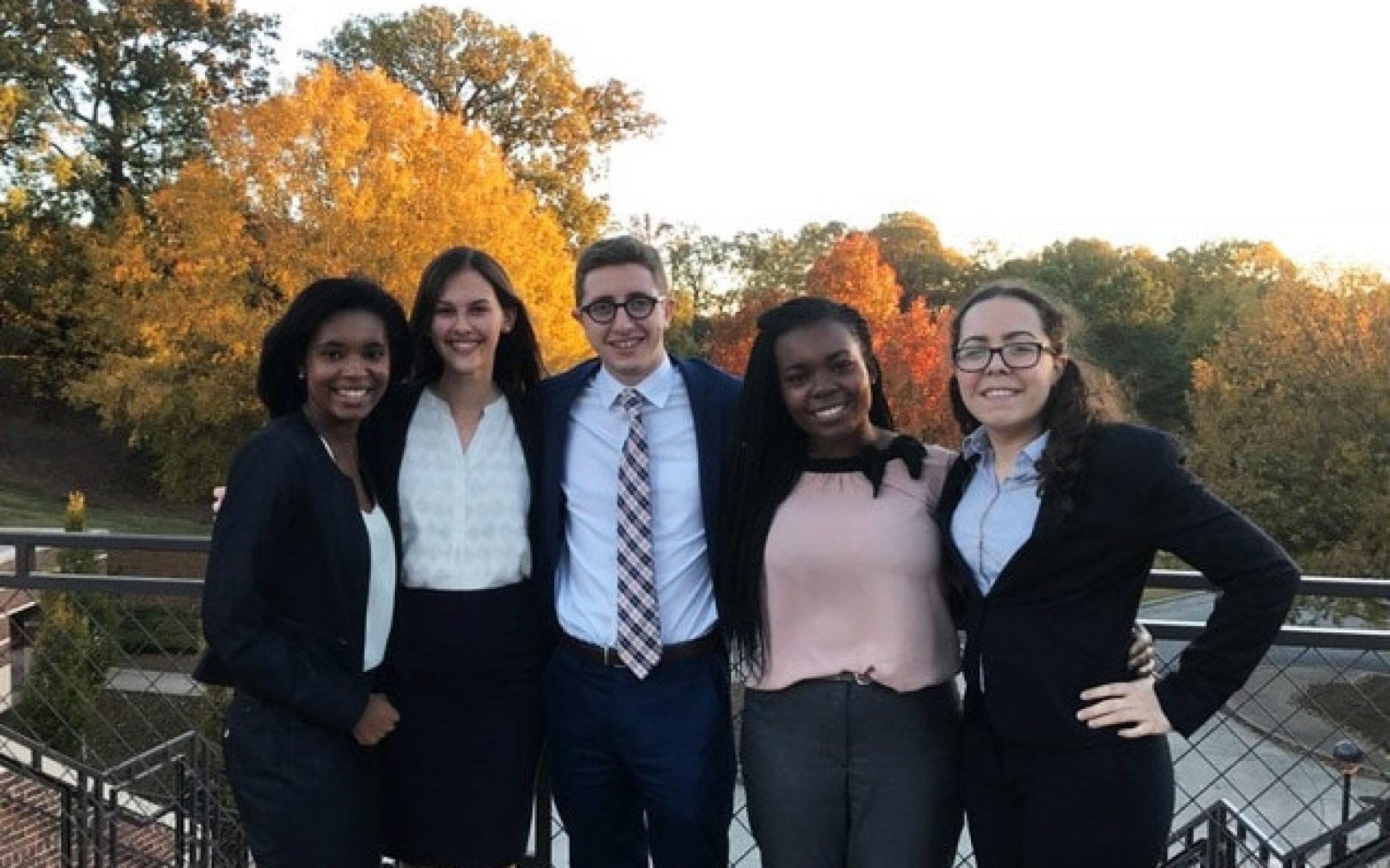 5 students on the ethics case competition team