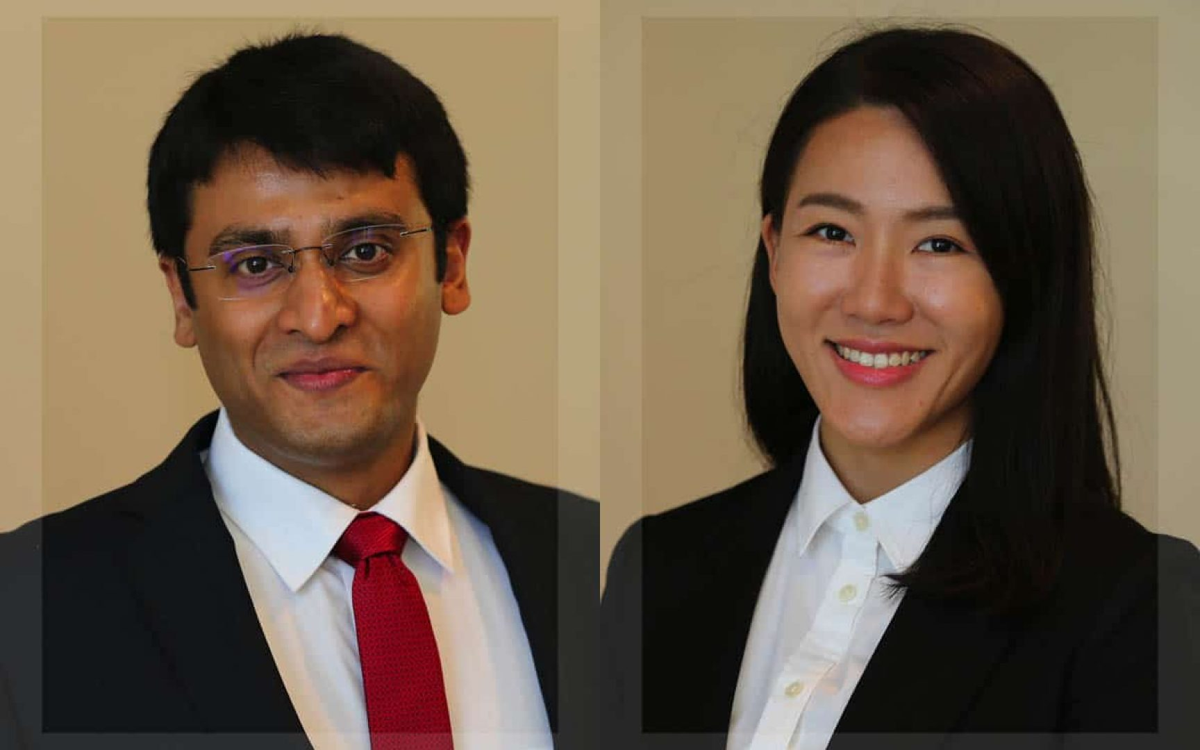 UF MSRE students Arjun Choudhary and Yeji Moon