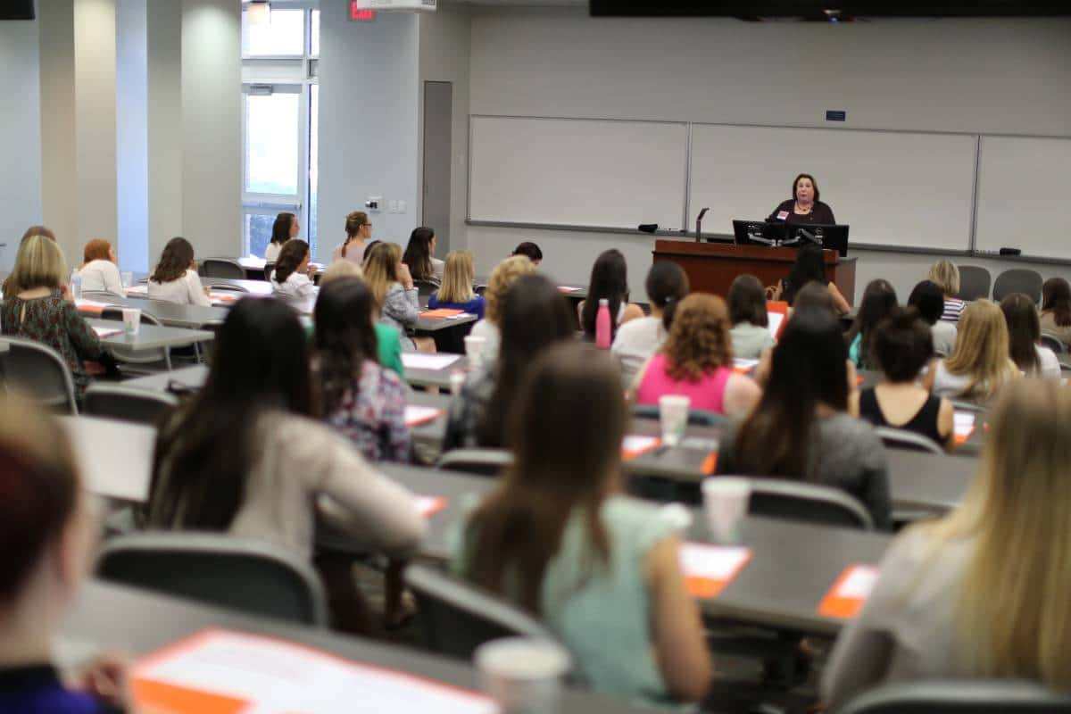 Barbara Jean Raskin speaks at the 11th Annual Women in Accounting Symposium