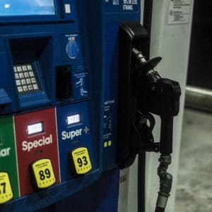 Image of a gas station pump