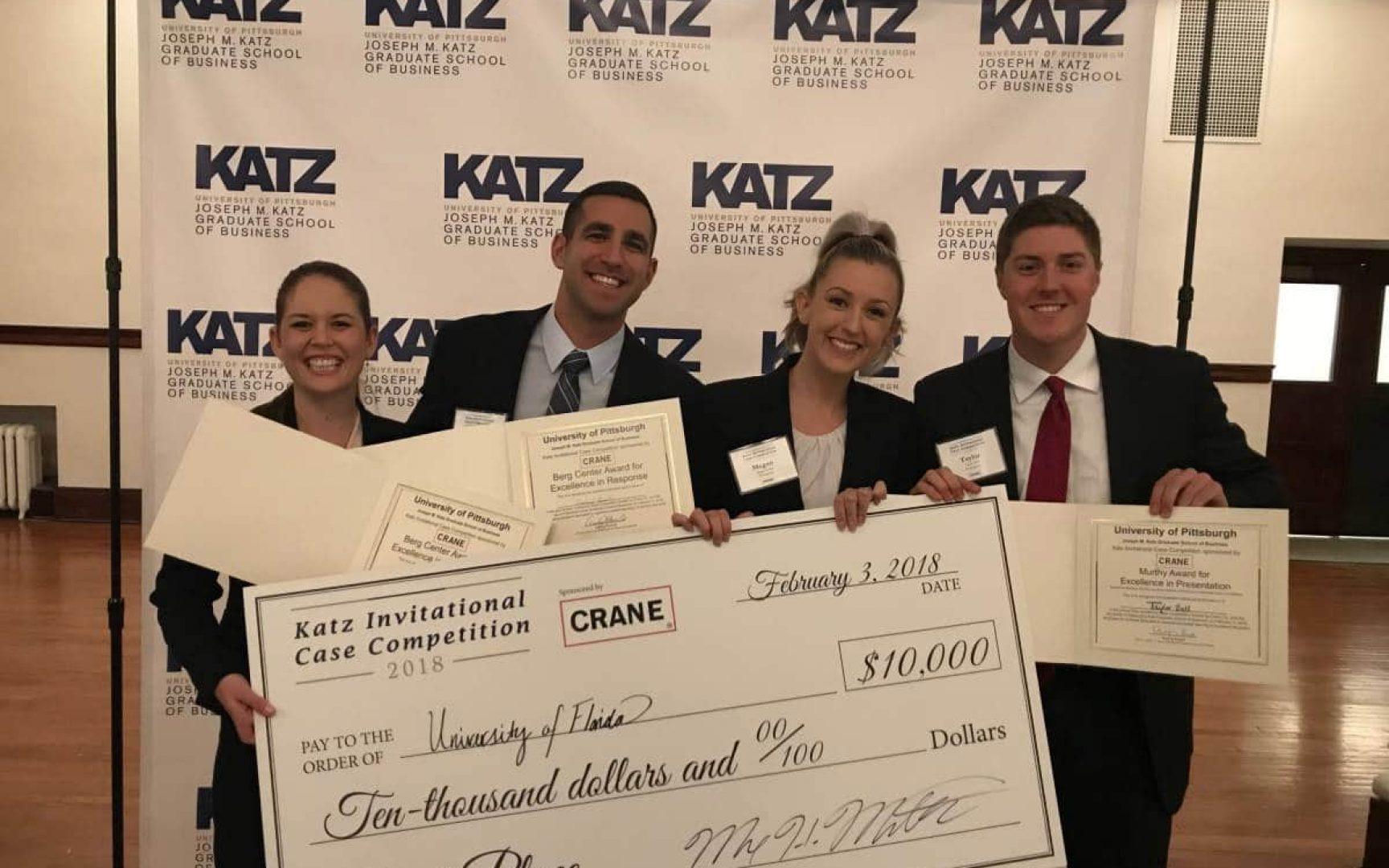 Uf Mba Wins Katz Case Competition Third Year In A Row Warrington