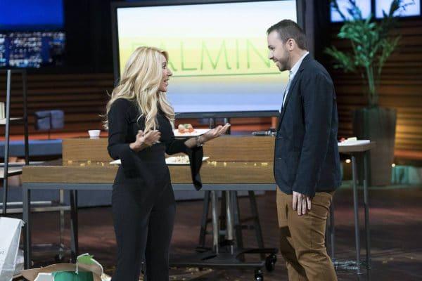 Alfonso Tejada talks with Lori Greiner on SharkTank