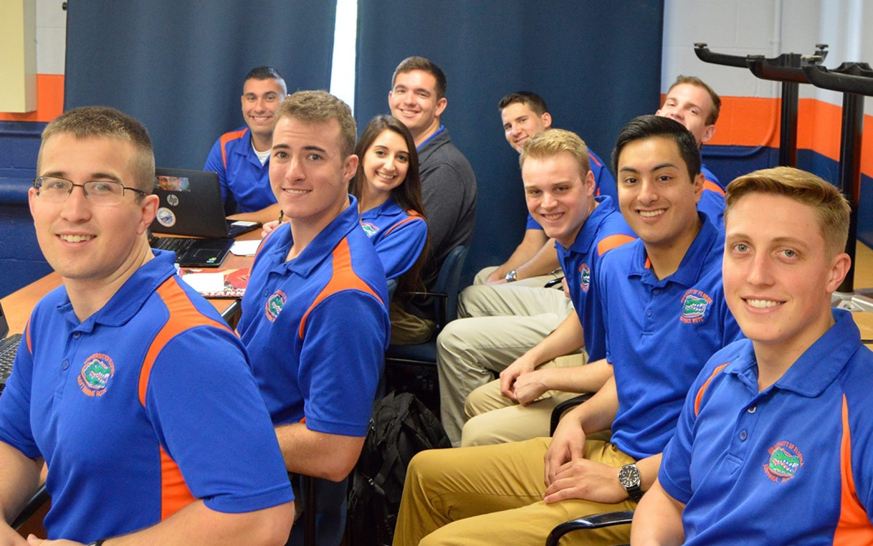 UF ROTC students pose for a photo at the UF ROTC Ethics Case Competition