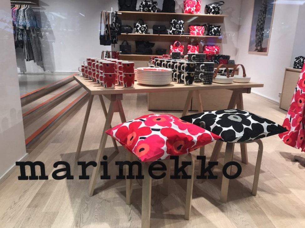 Marimekko store front in Finland
