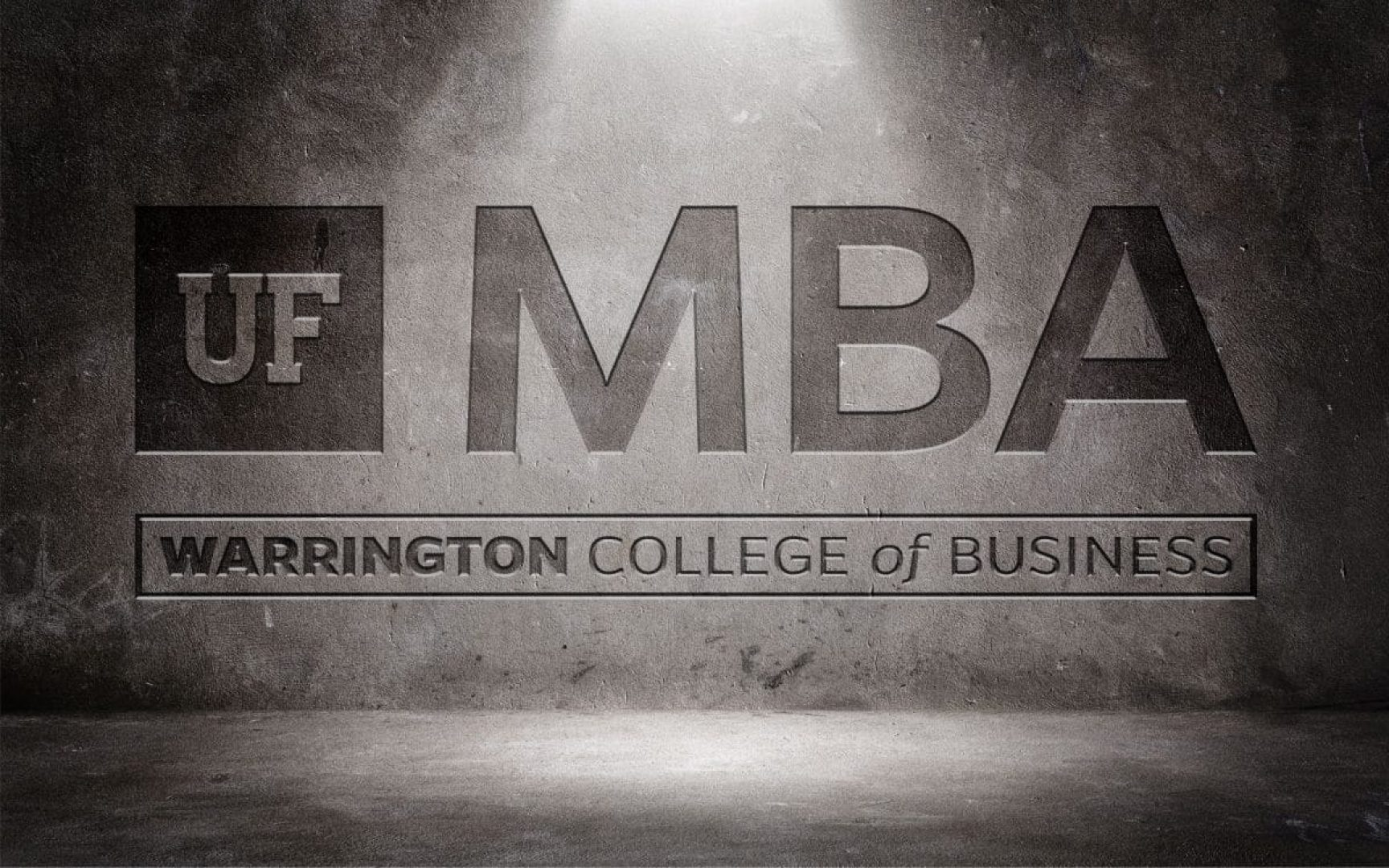 UF MBA logo etched in stone