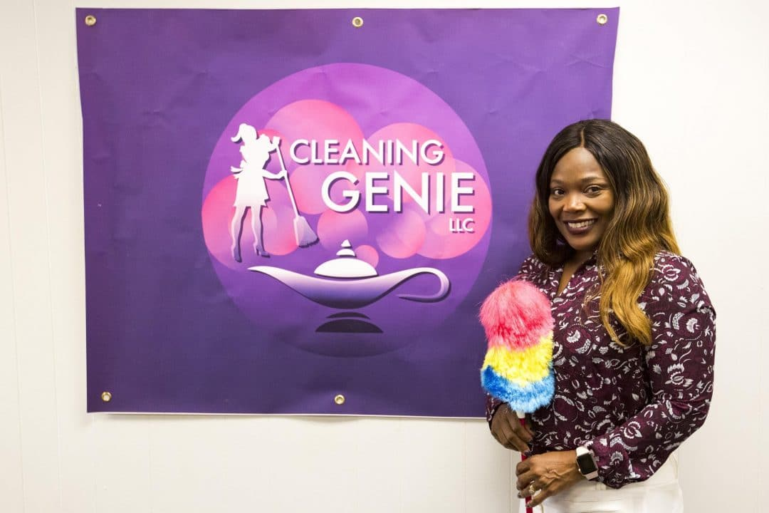 Charlotte Terry-Mendez, owner and creator of Cleaning Genie LLC, and GEAP participant.