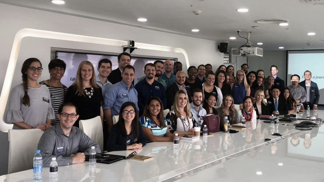 UF MBA students at in a boardroom at Ctrip
