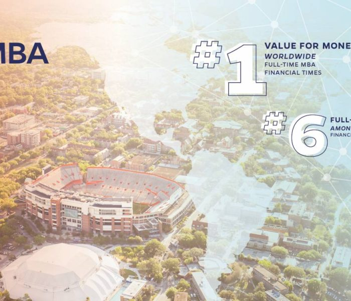 UF MBA No. 1 Value for Money Worldwide Full-Time MBA Financial Times. UF MBA No. 6 Full-Time MBA Among Publics Financial Times.