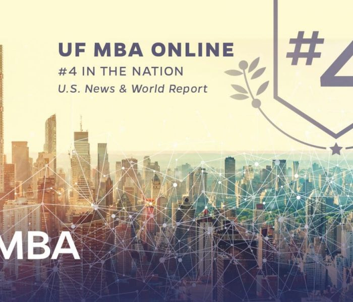 UF MBA Online named the No. 4 program in the nation by US News and World Report