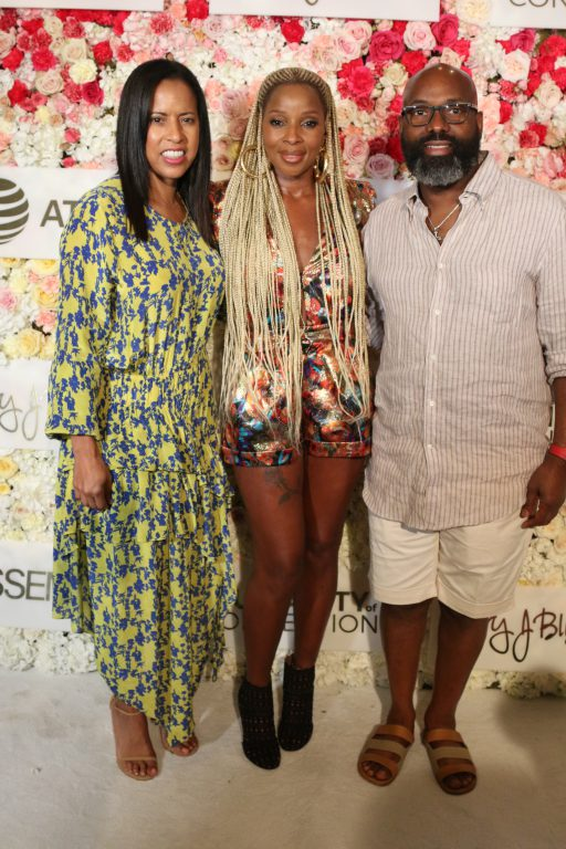 Michelle Ebanks, Mary J Blige and Richelieu Dennis