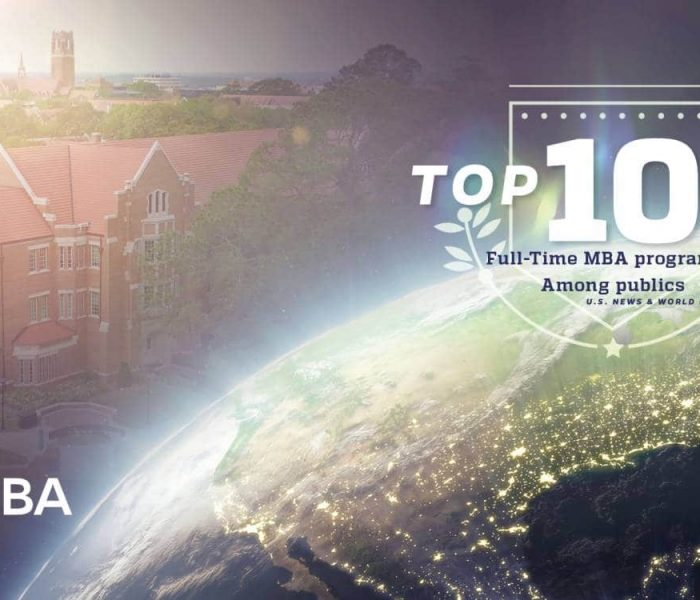 Top 10 Full-Time MBA program among publics by US News and World Report