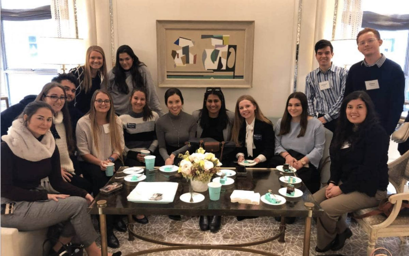 Students on the Miller Center NYC Retail Tour visit Tiffany & Co.