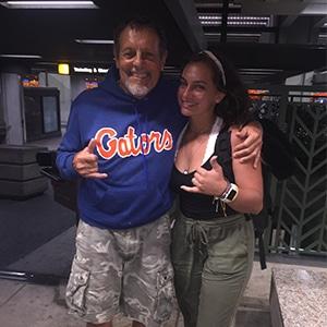 Bill Lane and his granddaughter Savannah in Hawaii.