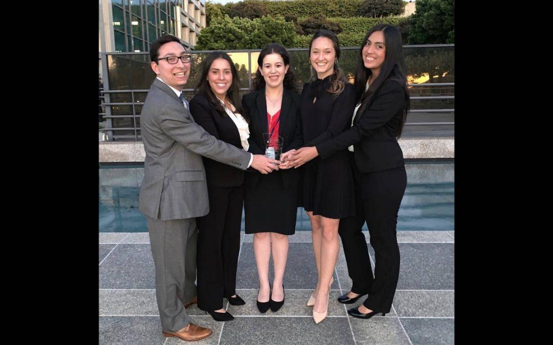 From left: Warrington graduate students Justin Schlakman, Natalia Leal, Suzy Dabage, Olivia Piatkowski and Stephanie Barahona.