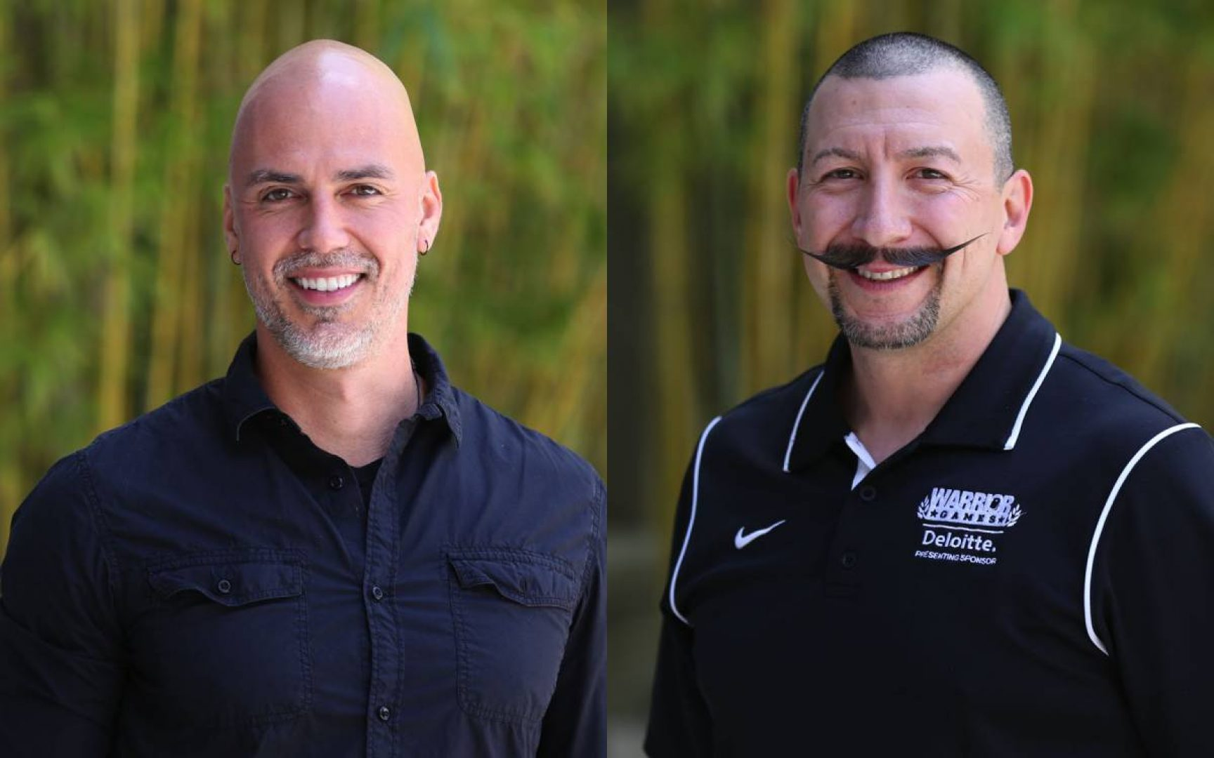 Jorge Avalos (right) and Jason McNamara benefitted from Warrington's Veterans Entrepreneurship Program.