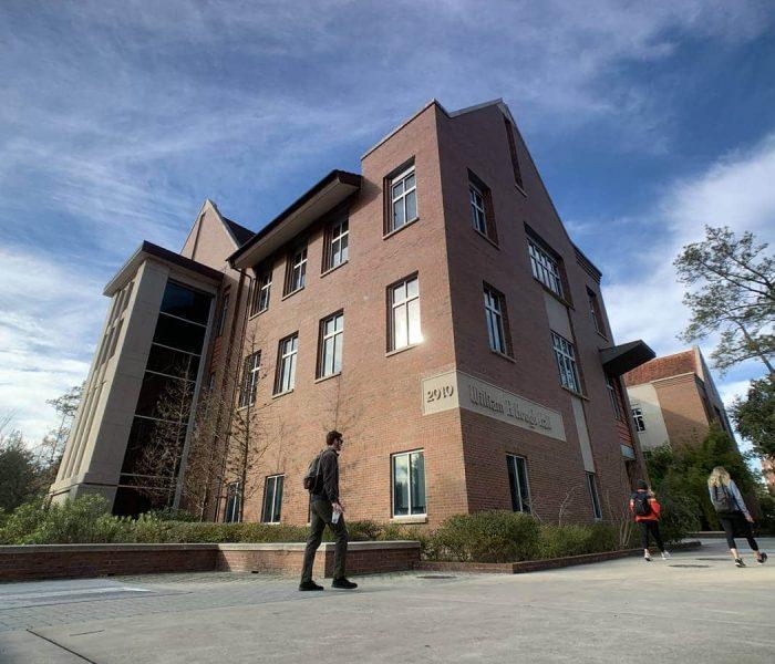 Northeast corner of Hough Hall, home of the UF MBA program