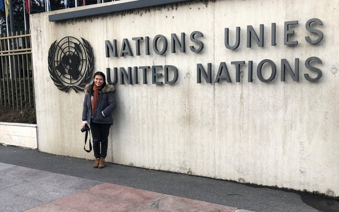 Allie Carrasquilla at the United Nations in Europe