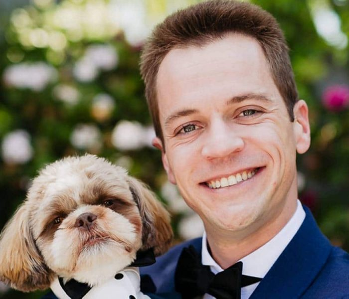 Jason Koester and his dog, Olly