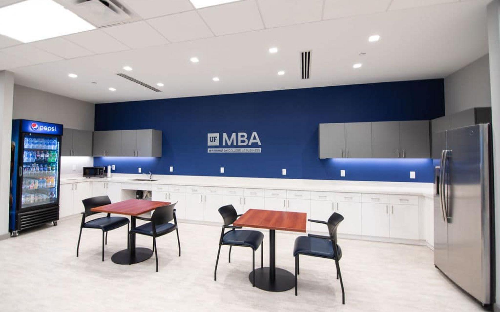 Kitchen area in UF MBA South Florida Miramar location