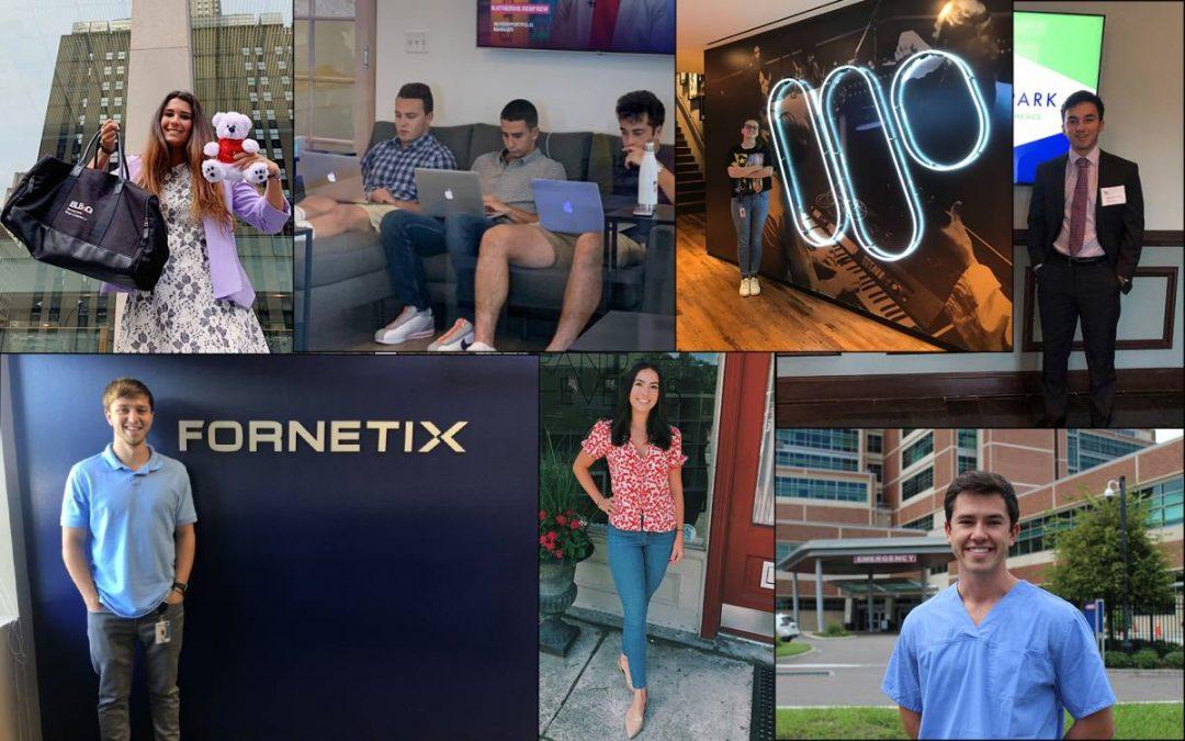 Heavener students at internships across the nation