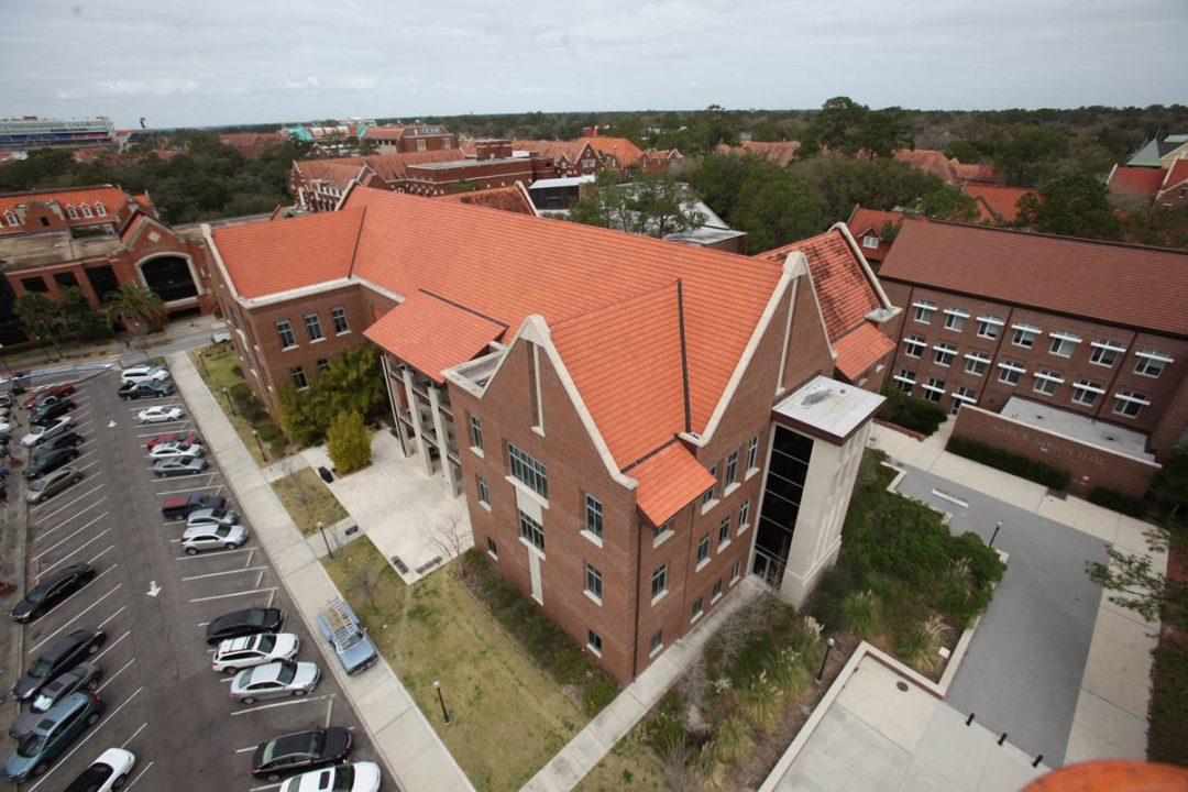 Birds-eye view of Hough Hall