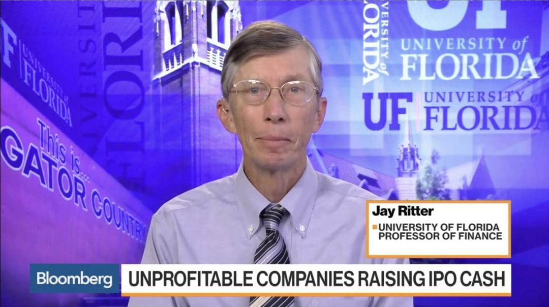 Jay Ritter speaks on Bloomberg