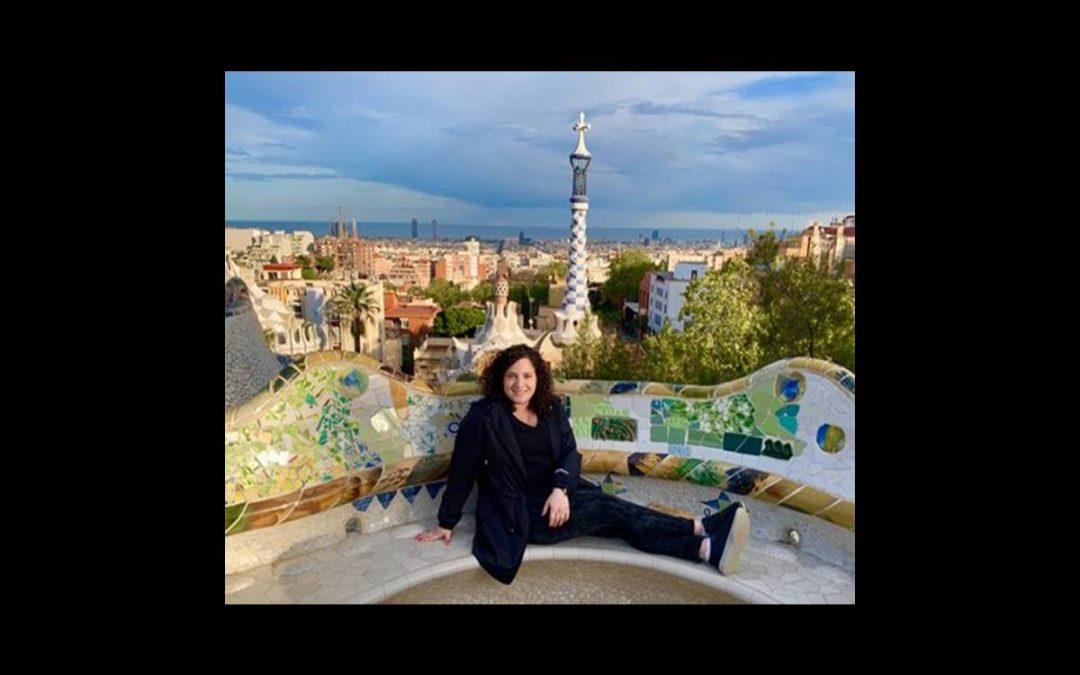 Alysse Rothbaum sits in Barcelona.