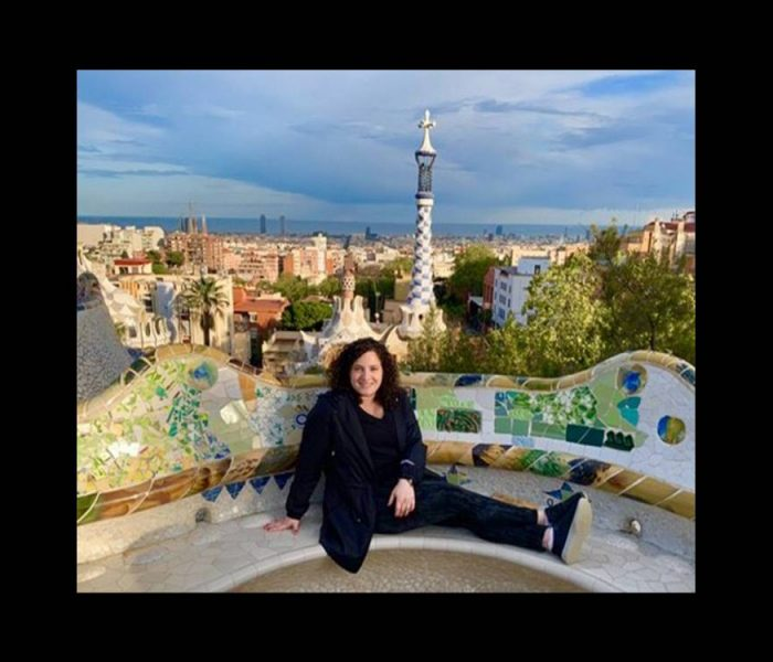 Alysse Rothbaum sits in Barcelona.