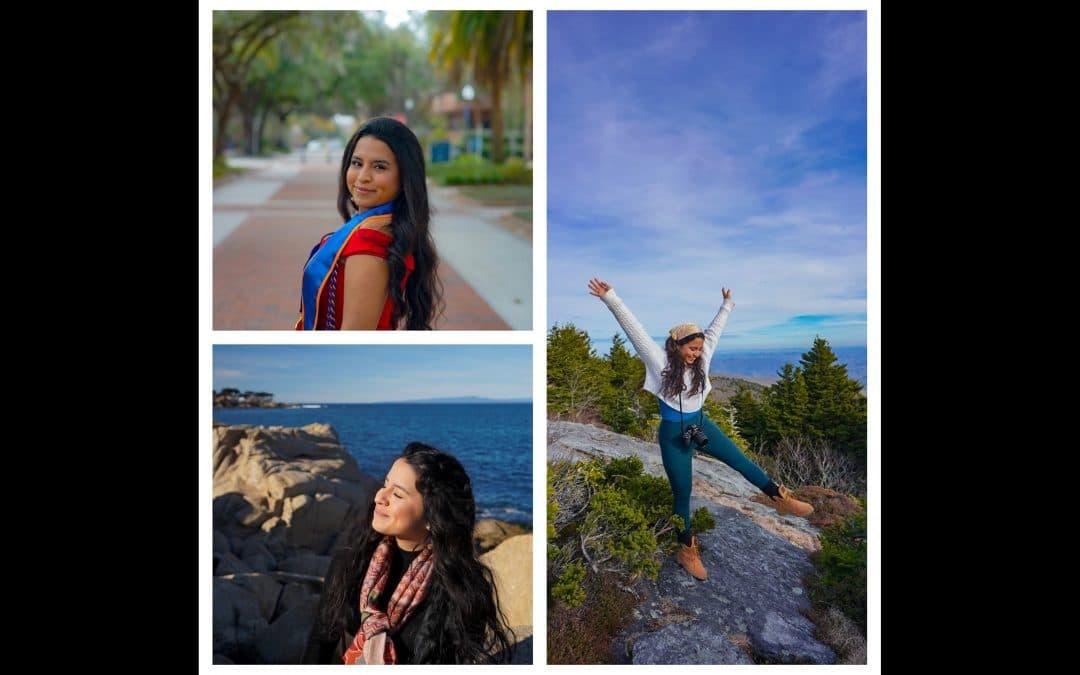 Collage of three photos of Diana Diaz Venturo