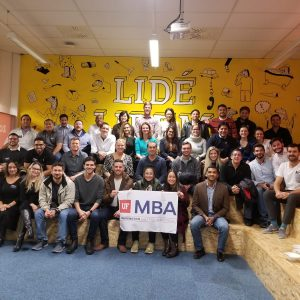 Large group of UF MBA students in the Zonky office in Prague