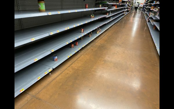 Grocery stores have empty shelves during this pandemic.