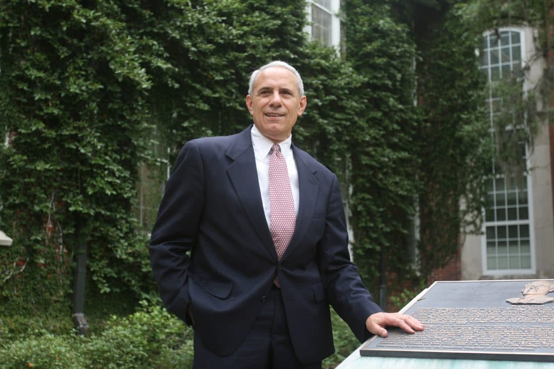 John Kraft stands outside Bryan Hall