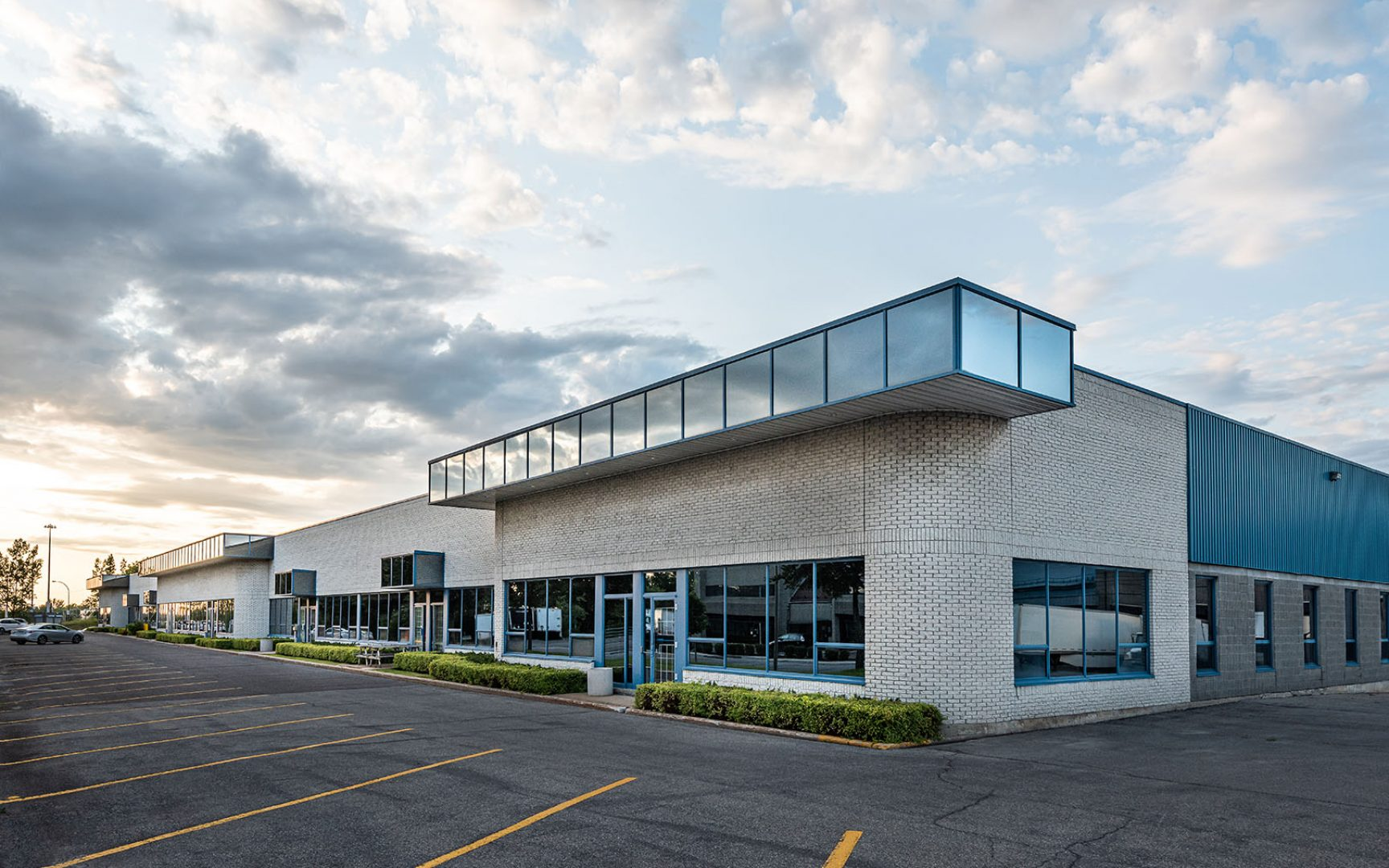 The exterior facade of a generic small business