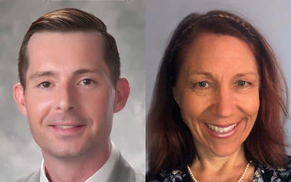 Patrick Brennan and Nancy Oswald