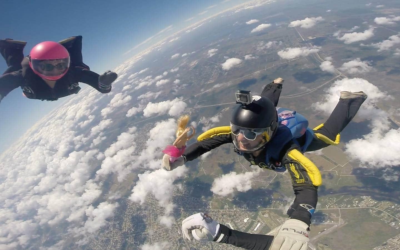 Emily Bombardi skydiving