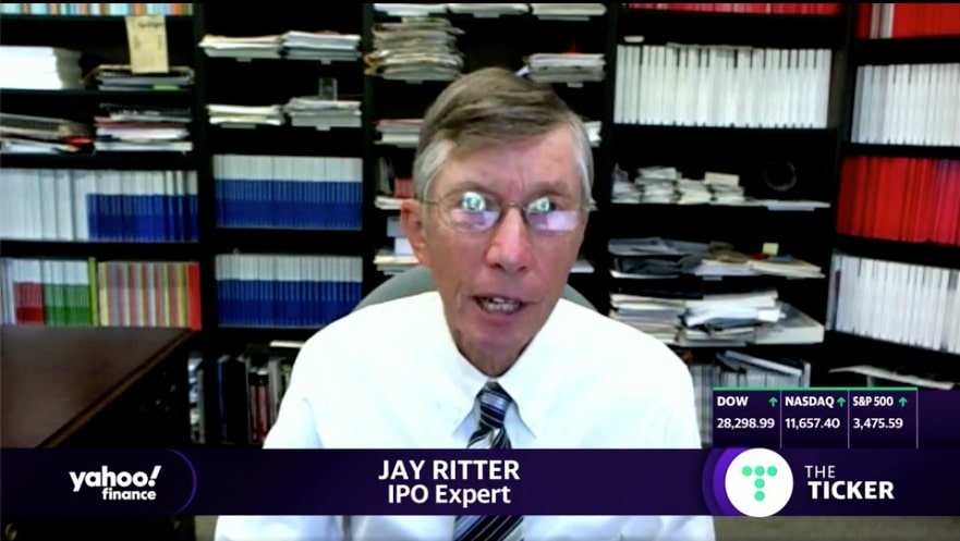 Jay Ritter speaking on Yahoo Finance