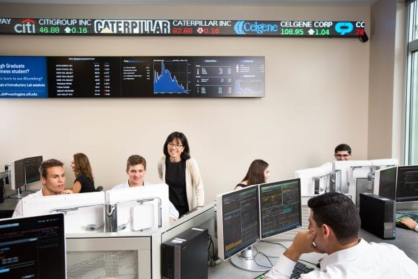 Graduate students at Warrington College of Business Administration gain real-world experience in the college's Market Lab.
